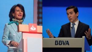 Dirigentes del Santander y el BBVA